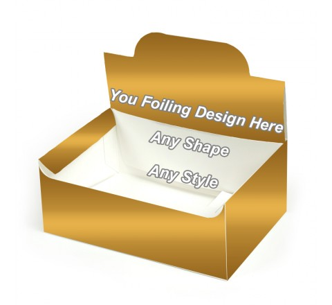 Golden Foiling - Pop up Display Boxes