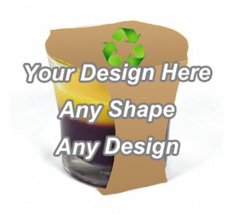 Recycled - Cup Jar Sleeve Packaging